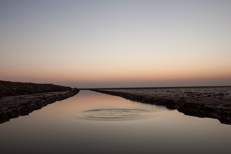 Water canal in Rann...that's man-made!