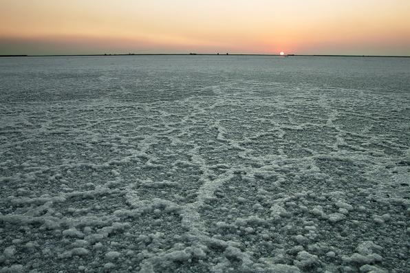 Patterns formed by salt crystals