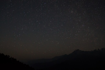 Stars at pre-dawn alongwith Andromeda Galaxy
