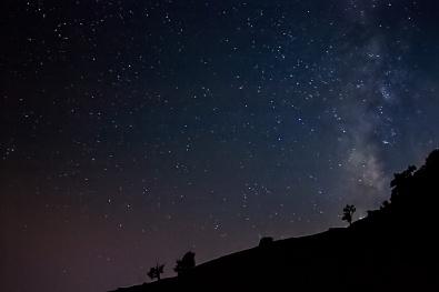 Milky Way Galaxy rises
