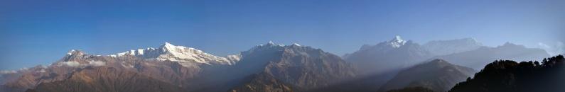 Pindari Range - Mrigdhuni, Maiktoli, Nandadevi, Nanda Khat, Pindari Glacier, Chaanguch, Nanda Kot, Laspadhura, Dangthal